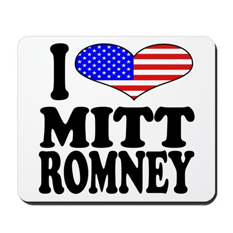 I Love Mitt Romney Mousepad