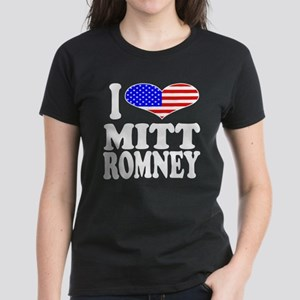 I Love Mitt Romney Women's Dark T-Shirt