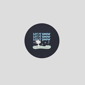 Let It Snow Mini Button