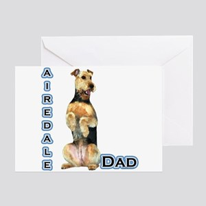 Airedale Dad4 Greeting Card