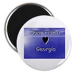 Gone Fishin in Georgia Magnet