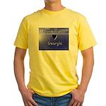 Gone Fishin in Georgia Yellow T-Shirt