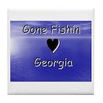 Gone Fishin in Georgia Tile Coaster