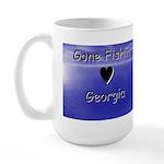 Gone Fishin in Georgia Large Mug