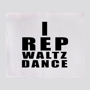 I Rep Waltz Dance Throw Blanket