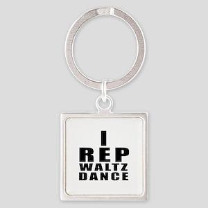 I Rep Waltz Dance Square Keychain