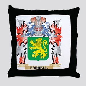 Farrell Coat of Arms - Family Crest Throw Pillow