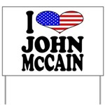 I Love John McCain Yard Sign