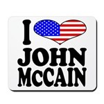 I Love John McCain Mousepad
