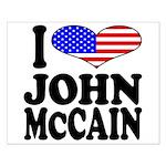 I Love John McCain Small Poster