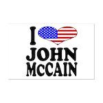 I Love John McCain Mini Poster Print