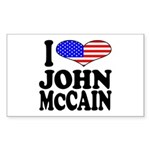 I Love John McCain Rectangle Sticker