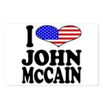 I Love John McCain Postcards (Package of 8)