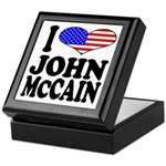 I Love John McCain Keepsake Box