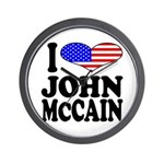 I Love John McCain Wall Clock
