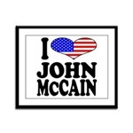 I Love John McCain Framed Panel Print