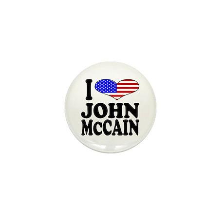 I Love John McCain Mini Button