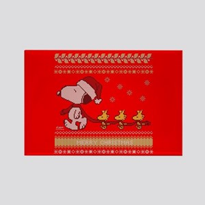 Snoopy Ugly Christmas Rectangle Magnet