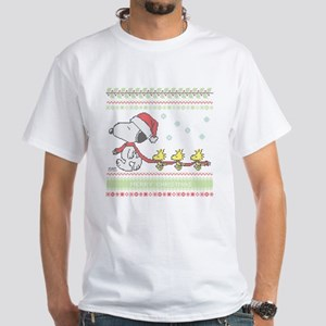 Snoopy Ugly Christmas White T-Shirt