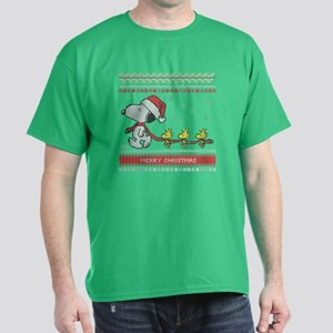 Snoopy Ugly Christmas Dark T-Shirt
