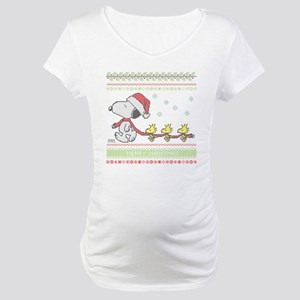 Snoopy Ugly Christmas Maternity T-Shirt