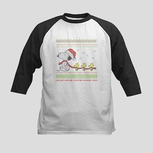 Snoopy Ugly Christmas Kids Baseball Jersey