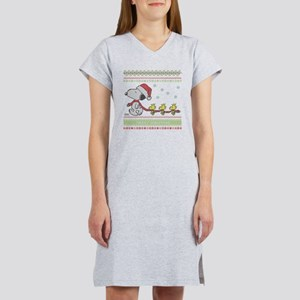 Snoopy Ugly Christmas Women's Nightshirt