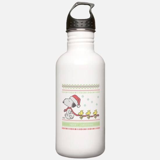 Snoopy Ugly Christmas Water Bottle