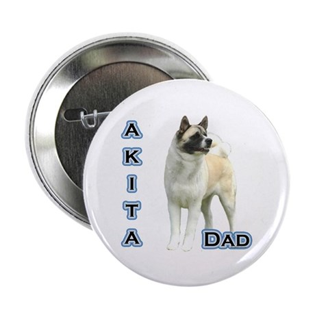 "Akita Dad4 2.25"" Button (100 pack)"
