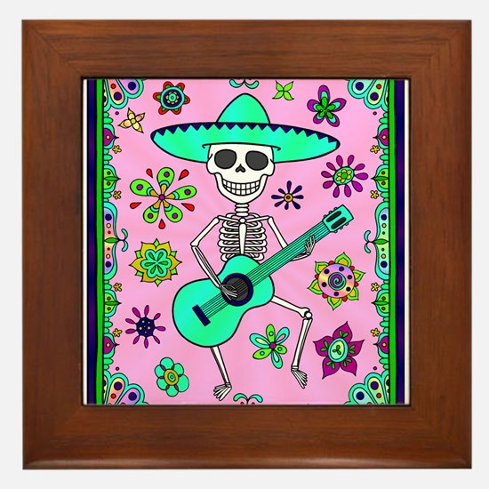 Best Seller Day of the Dead Framed Tile