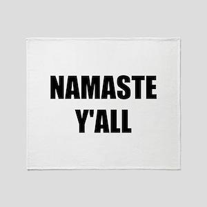 Namaste Yall Throw Blanket