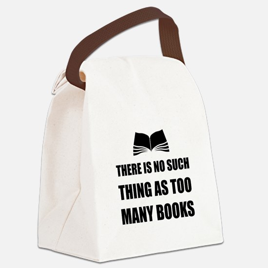 Too Many Books Canvas Lunch Bag