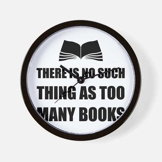 Too Many Books Wall Clock