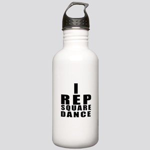 I Rep Square Dance Stainless Water Bottle 1.0L
