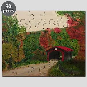 Red Covered Bridge Puzzle