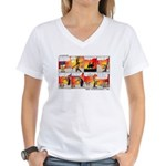 Coconuts Comics Shop Women's V-Neck T-Shirt