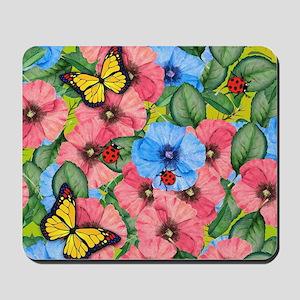 Floral scene Mousepad