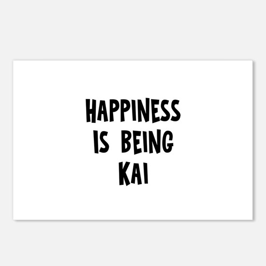 Happiness is being Kai Postcards (Package of 8)