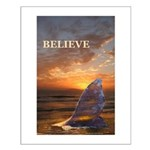 BELIEVE WHALE Small Poster