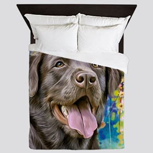 Labrador Painting Queen Duvet
