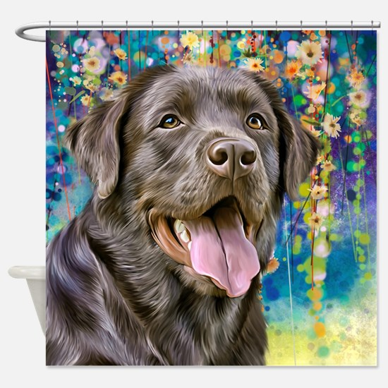 Labrador Painting Shower Curtain