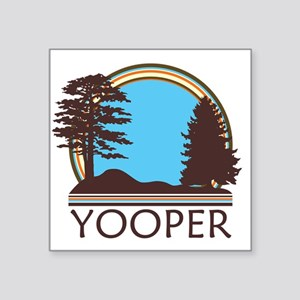 "Vintage Retro Yooper Square Sticker 3"" x 3"""