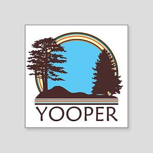 "Vintage Retro Yooper Square Sticker 3"" ..."