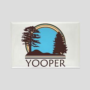 Vintage Retro Yooper Rectangle Magnet (10 pack)