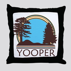 Vintage Retro Yooper Throw Pillow