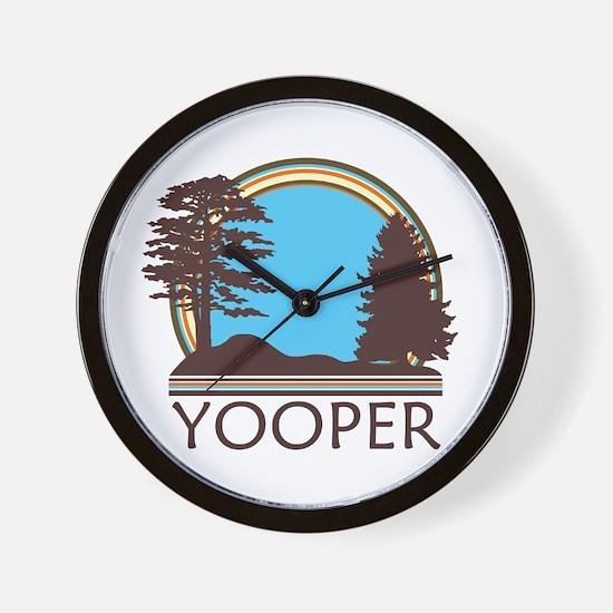 Vintage Retro Yooper Wall Clock