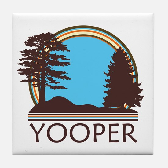 Vintage Retro Yooper Tile Coaster