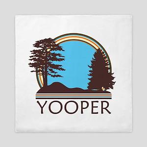Vintage Retro Yooper Queen Duvet