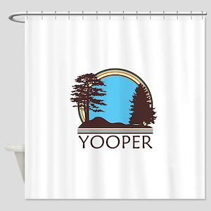 Vintage Retro Yooper Shower Curtain
