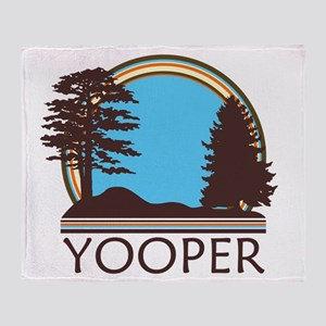 Vintage Retro Yooper Throw Blanket